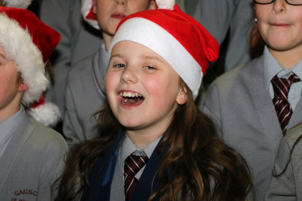 Gaelscoil Ui Riordain musicians entertaining the crowds at Ballincollig Shopping Centre Picture: Ailish Murphy