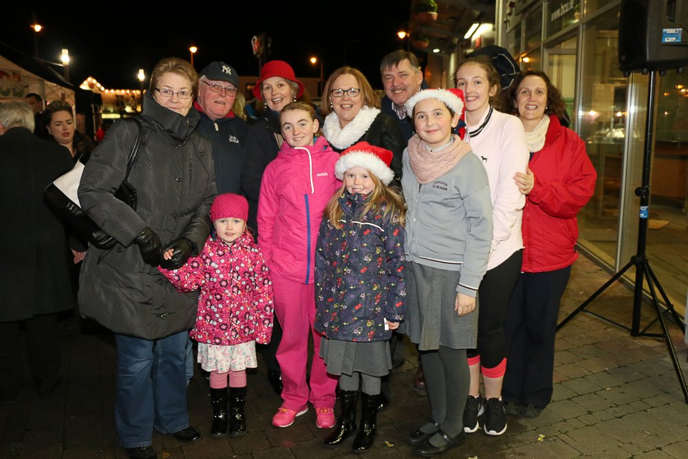 Local families: The Buckleys, Lyons, O'Regan and Cronin's enjoying the festivities at Ballincollig Shopping Centre Picture: Ailish Murphy