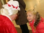 Kaitlin Elena chats with Mrs Claus Picture: Ailish Murphy
