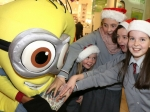 Students from Gaelscoil Ui Riordain meet the minions as the Christmas Lights were officially switched on in Ballincollig Picture: Ailish Murphy