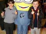 Dylan Brown and Cian O'Connor meet the Minion Picture: Ailish Murphy