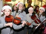 Gaelscoil Ui Riordain musicians entertaining the crowds at Ballincollig Shopping Centre Picture: Ailish Murphy