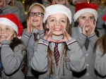 Gaelscoil Ui Riordain choir entertaining the crowds at Ballincollig Shopping Centre Picture: Ailish Murphy