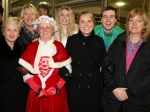 Aine Collins TD, Mrs Claus, Louise Maxwell, Niamh Buckley, Colm Monaghan and Karen O'Shea join Emer Cassidy Chairman of Ballincollig Business Association Picture: Ailish Murphy
