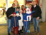 The Duffy family and Costello family together at the Ballincollig Shopping Centre Picture: Ailish Murphy