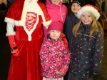 The Croning family enjoying some time with Mrs Claus Picture: Ailish Murphy