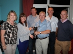 1st prize winners of Nevada Bobs accept the Mary O Mahony Perpetual trophy from Nicola O' Mahony
